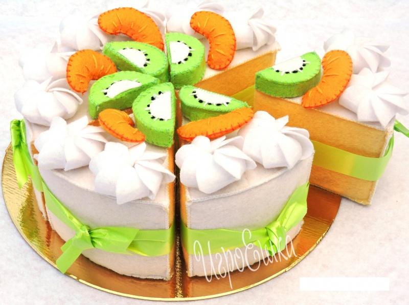 Поделки из фетра торт 98